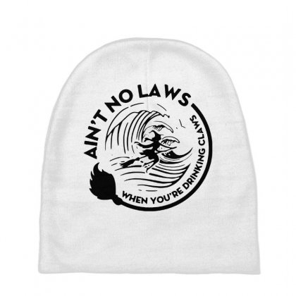 Halloween Witch Ain't No Laws You're Drinking Claws For Light Baby Beanies Designed By Pinkanzee
