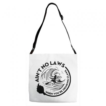 Halloween Witch Ain't No Laws You're Drinking Claws For Light Adjustable Strap Totes Designed By Pinkanzee
