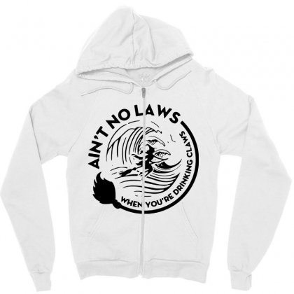Halloween Witch Ain't No Laws You're Drinking Claws For Light Zipper Hoodie Designed By Pinkanzee
