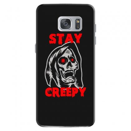 Halloween Skull Stay Creepy Samsung Galaxy S7 Case Designed By Pinkanzee
