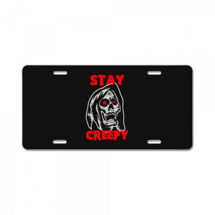 Halloween Skull Stay Creepy License Plate Designed By Pinkanzee