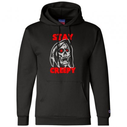 Halloween Skull Stay Creepy Champion Hoodie Designed By Pinkanzee