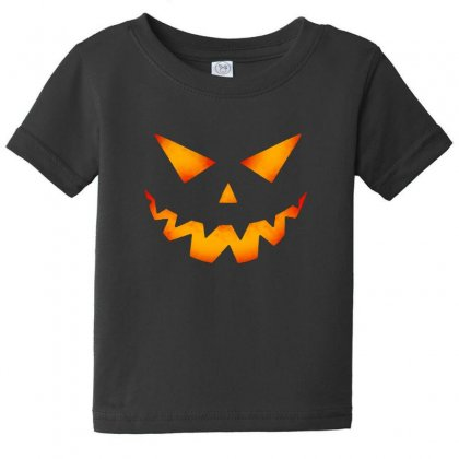 Halloween Pumpkin Baby Tee Designed By Pinkanzee