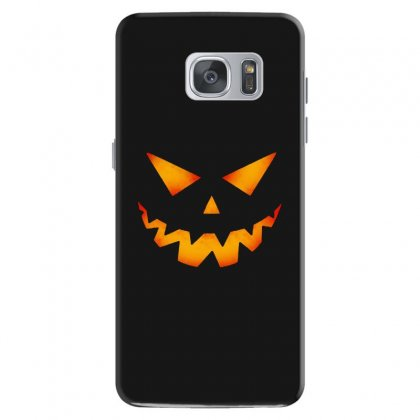 Halloween Pumpkin Samsung Galaxy S7 Case Designed By Pinkanzee
