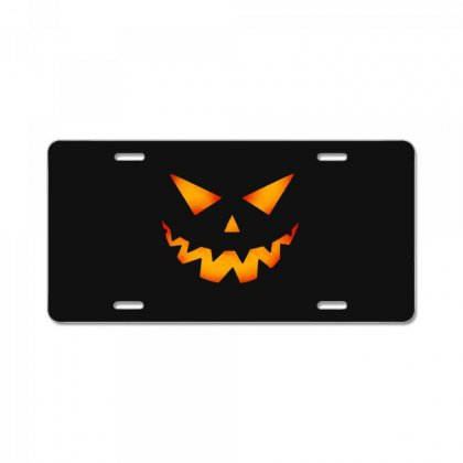 Halloween Pumpkin License Plate Designed By Pinkanzee