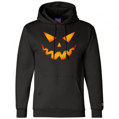 Halloween Pumpkin Champion Hoodie Designed By Pinkanzee