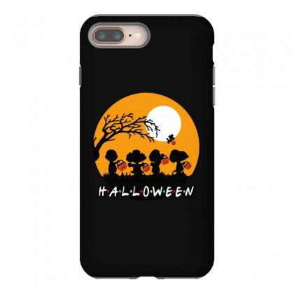 Halloween Moon Snoopy Hold Pumpkin With Woodstock Iphone 8 Plus Case Designed By Pinkanzee
