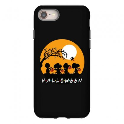 Halloween Moon Snoopy Hold Pumpkin With Woodstock Iphone 8 Case Designed By Pinkanzee