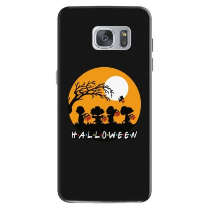 Halloween Moon Snoopy Hold Pumpkin With Woodstock Samsung Galaxy S7 Case Designed By Pinkanzee
