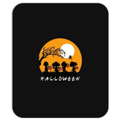 Halloween Moon Snoopy Hold Pumpkin With Woodstock Mousepad Designed By Pinkanzee