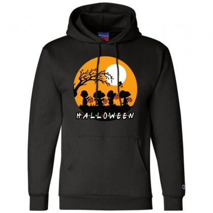 Halloween Moon Snoopy Hold Pumpkin With Woodstock Champion Hoodie Designed By Pinkanzee