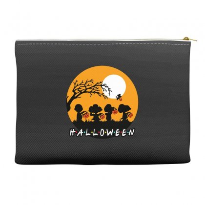 Halloween Moon Snoopy Hold Pumpkin With Woodstock Accessory Pouches Designed By Pinkanzee