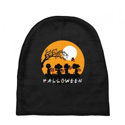 Halloween Moon Snoopy Hold Pumpkin With Woodstock Baby Beanies Designed By Pinkanzee
