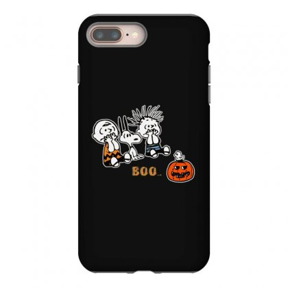 Halloween Kids Boo Snoopy Charlie Brown And Linus Van Pelt Frightened Iphone 8 Plus Case Designed By Pinkanzee