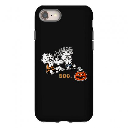 Halloween Kids Boo Snoopy Charlie Brown And Linus Van Pelt Frightened Iphone 8 Case Designed By Pinkanzee