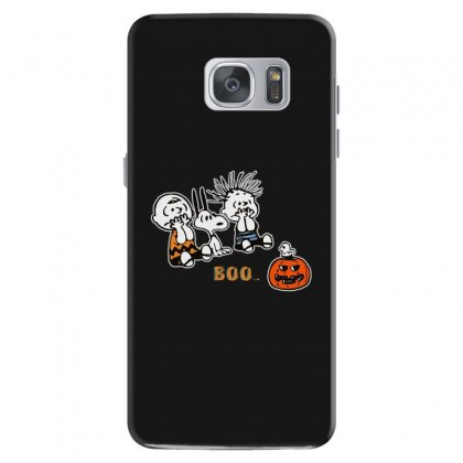 Halloween Kids Boo Snoopy Charlie Brown And Linus Van Pelt Frightened Samsung Galaxy S7 Case Designed By Pinkanzee