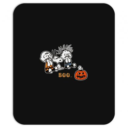 Halloween Kids Boo Snoopy Charlie Brown And Linus Van Pelt Frightened Mousepad Designed By Pinkanzee