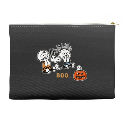 Halloween Kids Boo Snoopy Charlie Brown And Linus Van Pelt Frightened Accessory Pouches Designed By Pinkanzee
