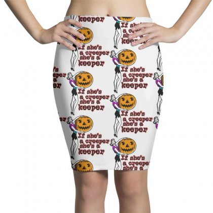 Halloween If Shes A Creeper Shes A Keeper Pencil Skirts Designed By Pinkanzee