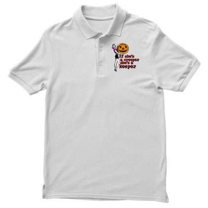 Halloween If Shes A Creeper Shes A Keeper Men's Polo Shirt Designed By Pinkanzee