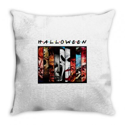 Halloween Horror Charaters Friends For Light Throw Pillow Designed By Pinkanzee