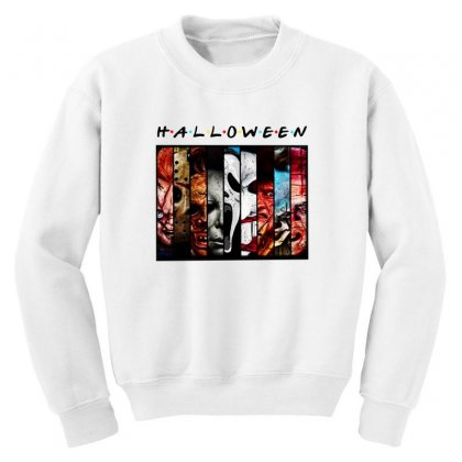 Halloween Horror Charaters Friends For Light Youth Sweatshirt Designed By Pinkanzee