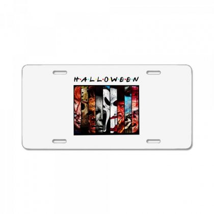 Halloween Horror Charaters Friends For Light License Plate Designed By Pinkanzee