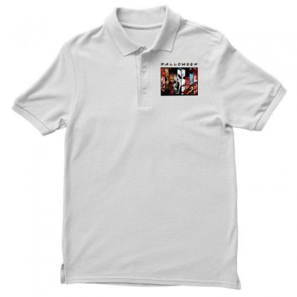 Halloween Horror Charaters Friends For Light Men's Polo Shirt Designed By Pinkanzee