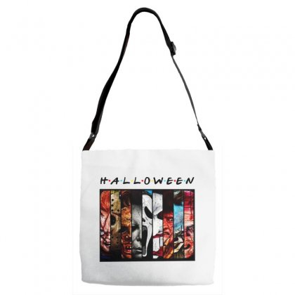 Halloween Horror Charaters Friends For Light Adjustable Strap Totes Designed By Pinkanzee