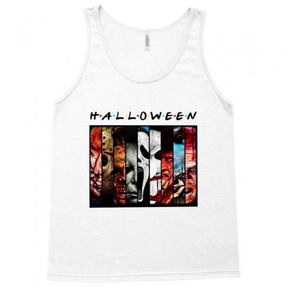 Halloween Horror Charaters Friends For Light Tank Top Designed By Pinkanzee