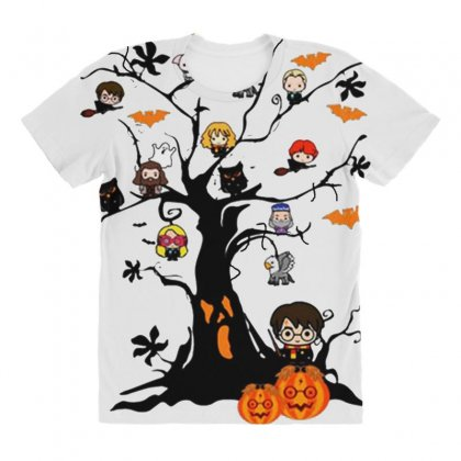 Halloween Harry Potter Tree Funny All Over Women's T-shirt Designed By Pinkanzee
