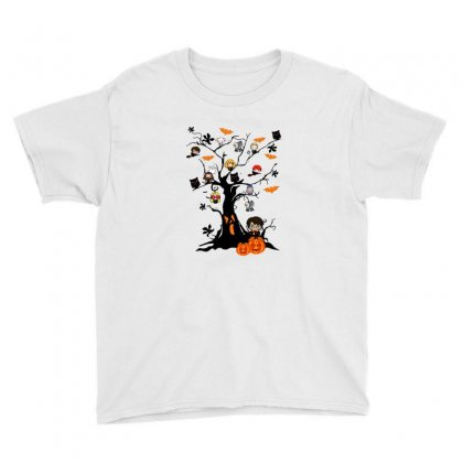 Halloween Harry Potter Tree Funny Youth Tee Designed By Pinkanzee