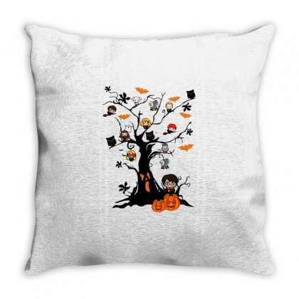 Halloween Harry Potter Tree Funny Throw Pillow Designed By Pinkanzee