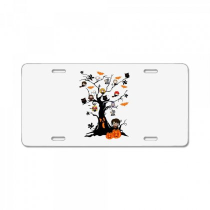 Halloween Harry Potter Tree Funny License Plate Designed By Pinkanzee
