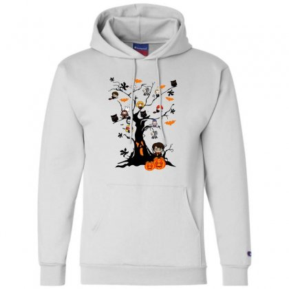 Halloween Harry Potter Tree Funny Champion Hoodie Designed By Pinkanzee