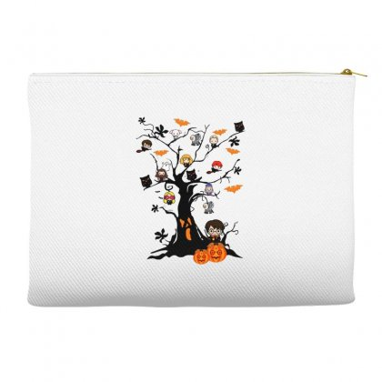 Halloween Harry Potter Tree Funny Accessory Pouches Designed By Pinkanzee
