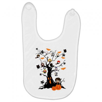 Halloween Harry Potter Tree Funny Baby Bibs Designed By Pinkanzee