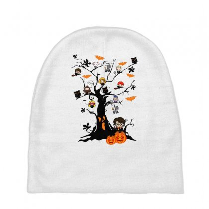 Halloween Harry Potter Tree Funny Baby Beanies Designed By Pinkanzee