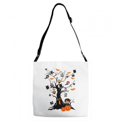 Halloween Harry Potter Tree Funny Adjustable Strap Totes Designed By Pinkanzee