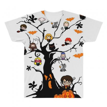 Halloween Harry Potter Tree Funny All Over Men's T-shirt Designed By Pinkanzee