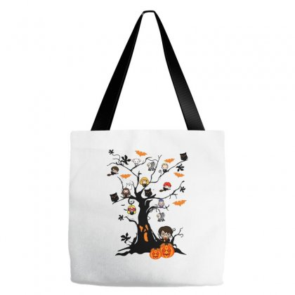 Halloween Harry Potter Tree Funny Tote Bags Designed By Pinkanzee