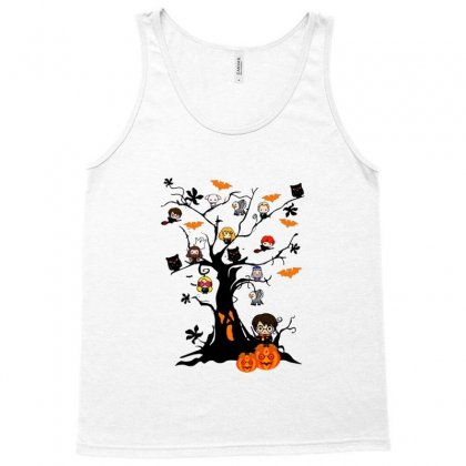 Halloween Harry Potter Tree Funny Tank Top Designed By Pinkanzee