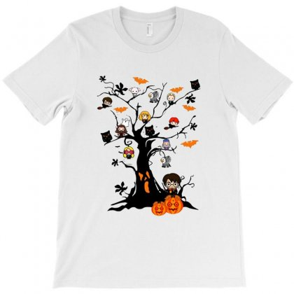 Halloween Harry Potter Tree Funny T-shirt Designed By Pinkanzee