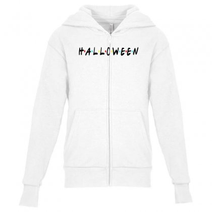 Halloween For Light Youth Zipper Hoodie Designed By Pinkanzee