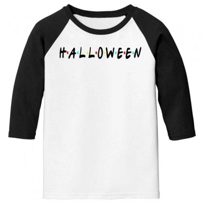 Halloween For Light Youth 3/4 Sleeve Designed By Pinkanzee