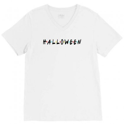 Halloween For Light V-neck Tee Designed By Pinkanzee