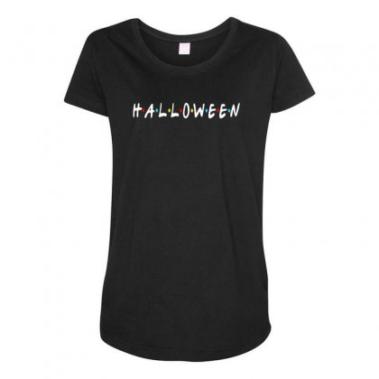 Halloween For Dark Maternity Scoop Neck T-shirt Designed By Pinkanzee