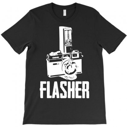 Flasher Camera T-shirt Designed By Funtee