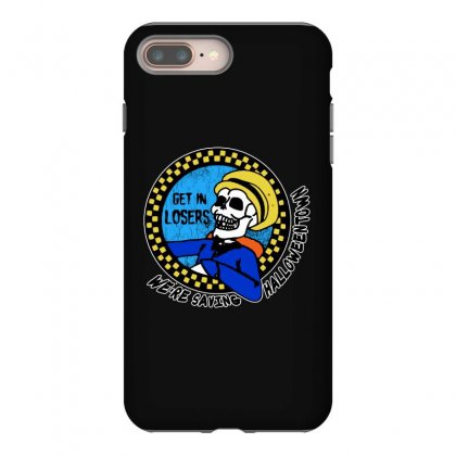 Get In Losers Skull We're Saving Halloween Town Iphone 8 Plus Case Designed By Pinkanzee