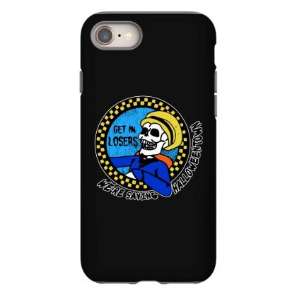 Get In Losers Skull We're Saving Halloween Town Iphone 8 Case Designed By Pinkanzee